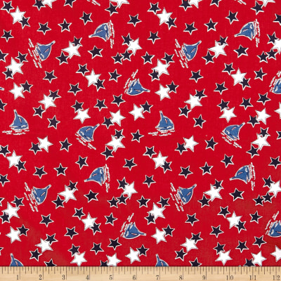 Springs Creative BJT Preppy Sail Boats Red