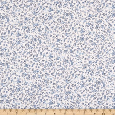 Springs Creative Country Floral Calico Blue