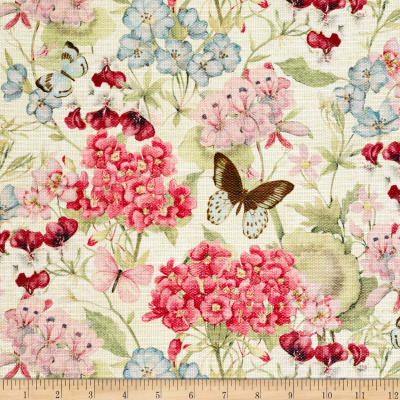 Susan Winget Botanical Buzz Floral Bouquet Basketweave Cream