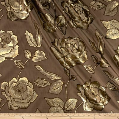 Starlight Roses Point Jacquard Taupe