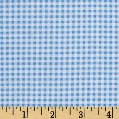 Gingham Flannel Aqua