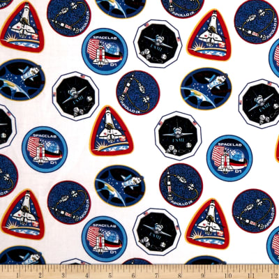 Riley Blake Out Of This World With NASA Patches White