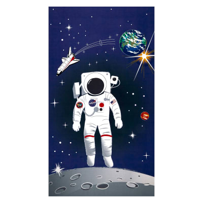 "Riley Blake Out Of This World With NASA Astronaut 24"" Panel Blue"