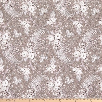 Penny Rose Rose Garden Paisley Taupe