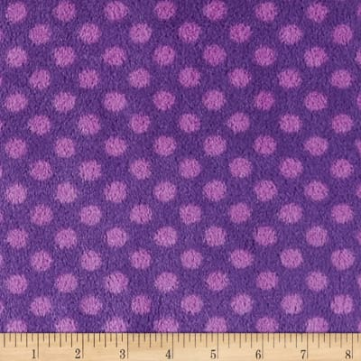 Plush Coral Fleece Polka Dots Amethyst