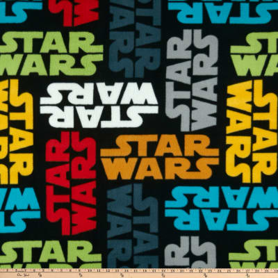 Star Wars Tossed Logo Fleece Multi