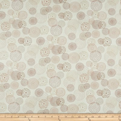 Henry Glass Tickled Pink Circles Cream