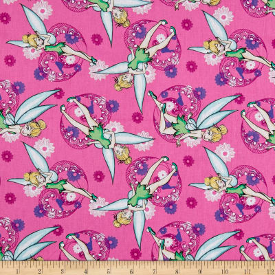 Springs Creative Disney Tink Fashion Tinkerbell All Over Pink