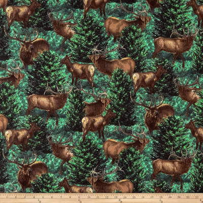 Springs Creative Wild Wings Glenson Range Elk All Over Green