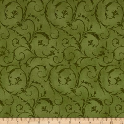"Maywood Studio 108"" Beautiful Backing Elegant Scroll Spring Green"