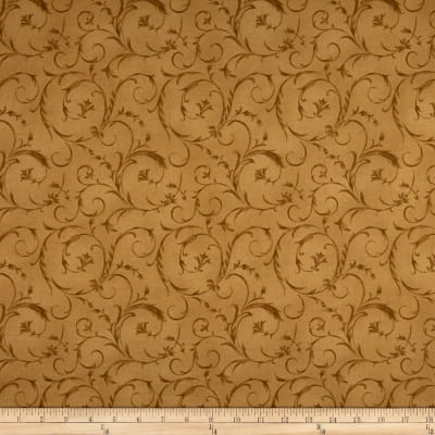 "Maywood Studio 108"" Beautiful Backing Elegant Scroll Golden Tan"