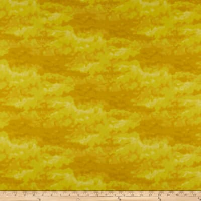Clothworks Misty Tonal Dark Yellow