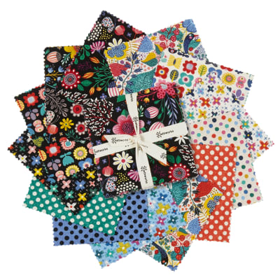 """Clothworks Good Things Will Come 5"""" Squares 42 Pieces Multi"""