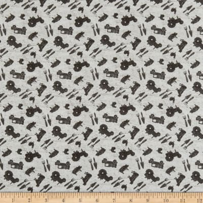 Clothworks Farmhouse Life Toss Light Gray