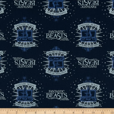 Wizarding World Fantastic Beasts Suitcase & Logo in Navy