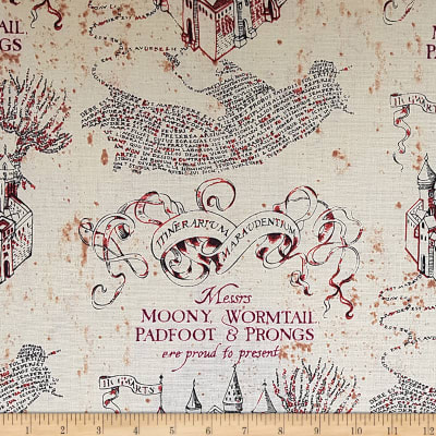 Camelot Wizarding World Marauders Map in Tan