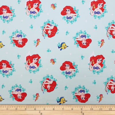 Disney Forever Princess Ariel In Wreaths in Light Turquoise