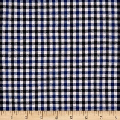 Stretch Seersucker Plaid Royal