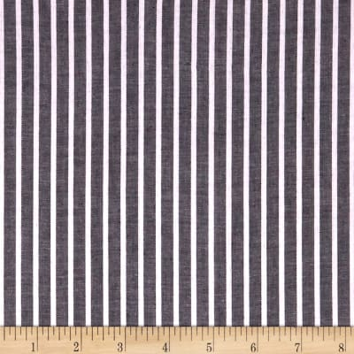 Cotton Lawn Stripe Black