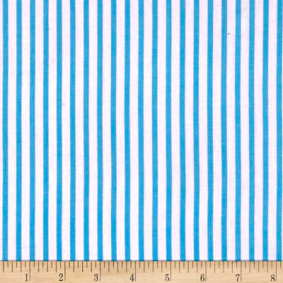 Cotton Lawn Stripe Aqua