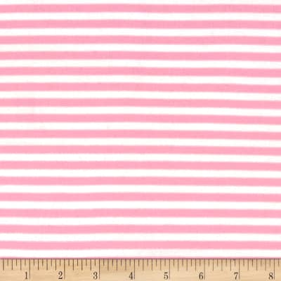 "1/4"" Stretch Rayon Stripe Jersey Knit Pink"