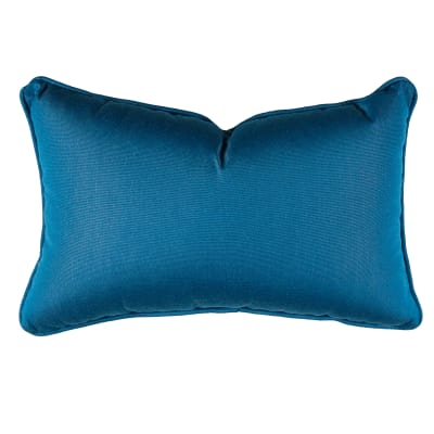 "Sunbrella 12"" x 20"" Pillow With Welt & Dacron Insert Regatta"