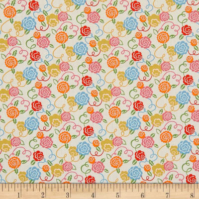 Liberty Fabrics Tana Lawn Ribbon Bloom Orange