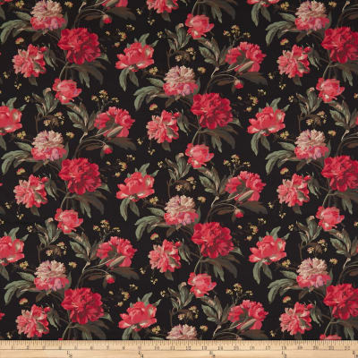 Liberty Fabrics Tana Lawn Decadent Blooms Black