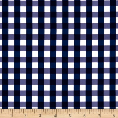 Swimwear Nylon Spandex Gingham Navy