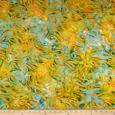 Banyan Batiks Visual Sounds Ribbons Yellow