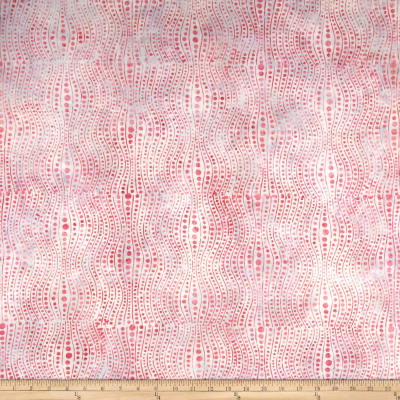 Banyan Batiks Visual Sounds Dot Stripe Pink