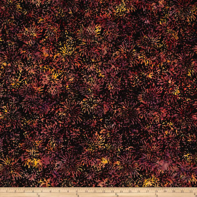 Banyan Batiks Shattered Garden Packed Mums Black/Pink