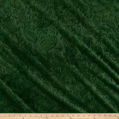 Shannon Minky Cuddle Embossed Paisley Vine Evergreen