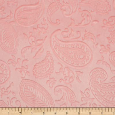 Shannon Minky Cuddle Embossed Paisley Vine Shell