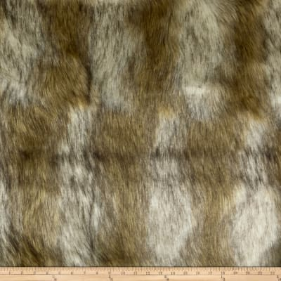 Shannon Lux Fur Striped Coyote Ivory/Gold