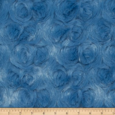 Shannon Minky Luxe Cuddle Rose Bluebell