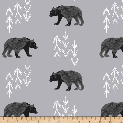 Shannon Premier Prints Minky Bearfoot Cuddle Steel
