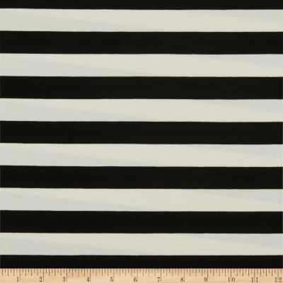 Art Gallery Striped Bold Caviar Jersey Knit Black & White