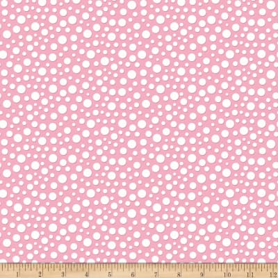 Riley Blake Gnome and Gardens Loppy Dots Pink