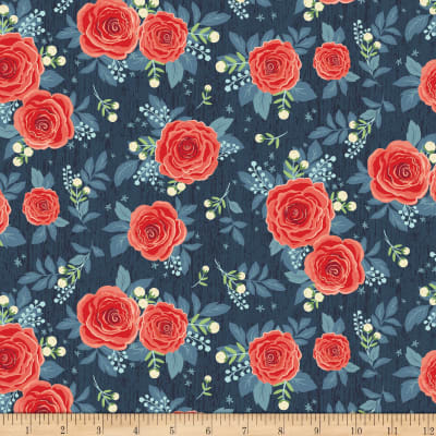 Penny Rose Hedge Rose Main Navy
