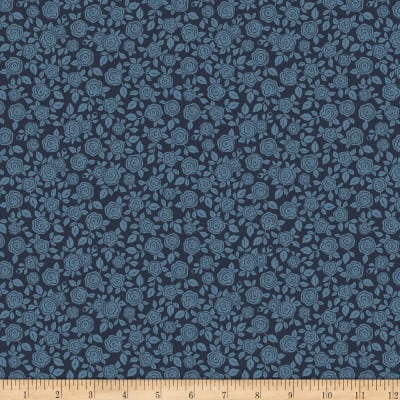 Penny Rose Hedge Rose Floral Navy