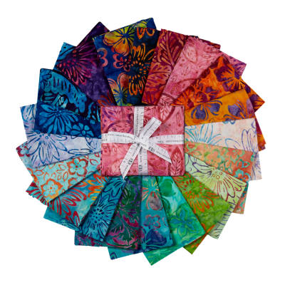 Kaufman Artisan Batiks Bright Blooms Fat Quarter Bundles 15 Pcs Multi