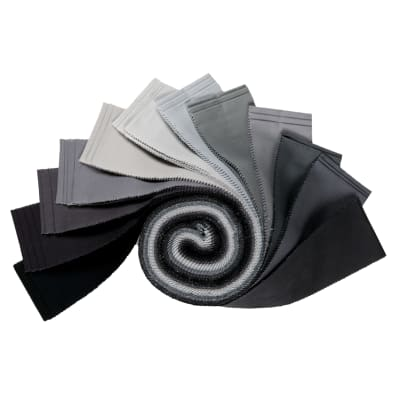 "Kaufman Kona Cotton 2.5"" Roll Ups 40 Pcs Stormy Skies"