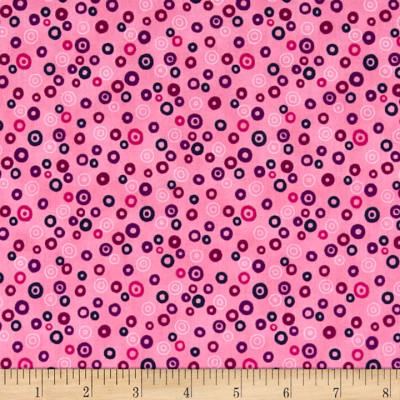 Stof Fabrics Denmark Rainbow Colours Circle & Dots Light Pink