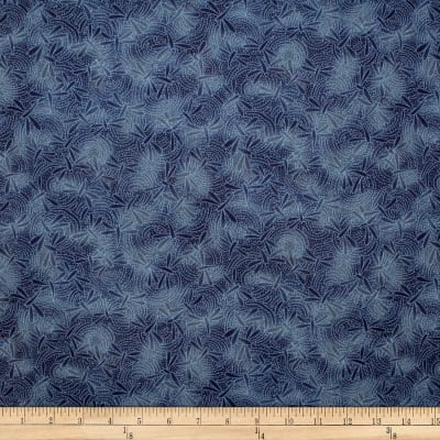 Trans-Pacific Textiles Asian Dragonfly Blender Navy