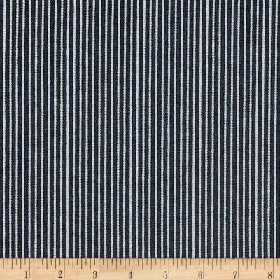 10 Oz. Wide Railroad Striped Denim Blue