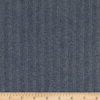 10 Oz. Herringbone Striped Denim Blue