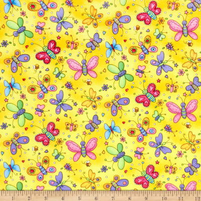 Epic Sunny Days Butterflies Yellow