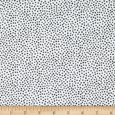 Epic Woof N' Whiskers Dots Basic White On Black