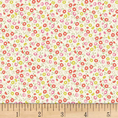 Quilt Gate Ruru Bouquet Florette Tiny Flower Toss Natural
